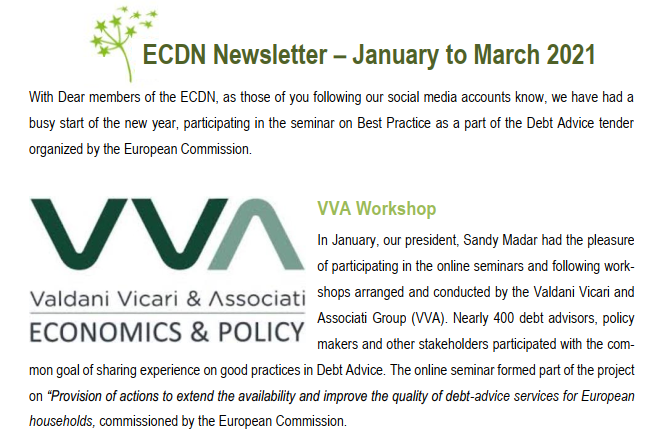 ECDN Newsletter January to March