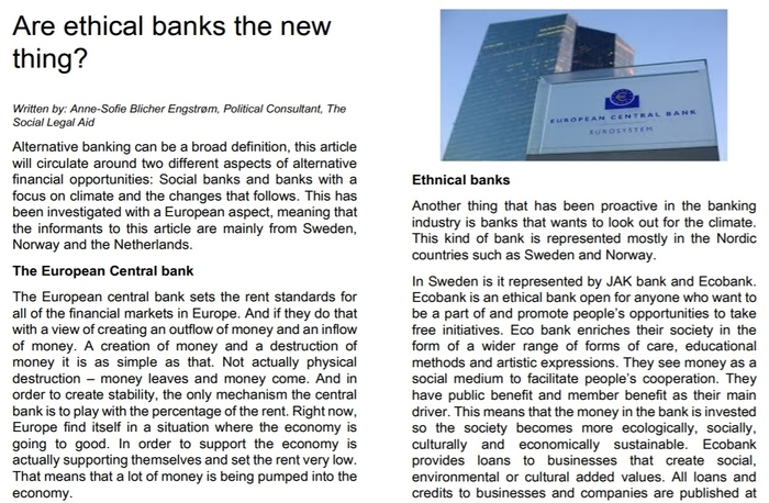 3 Article about Alternative banks