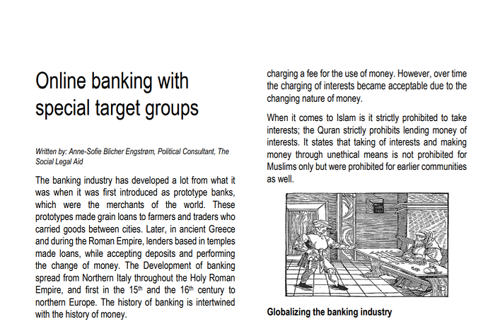 Article 1 about Alternative banks