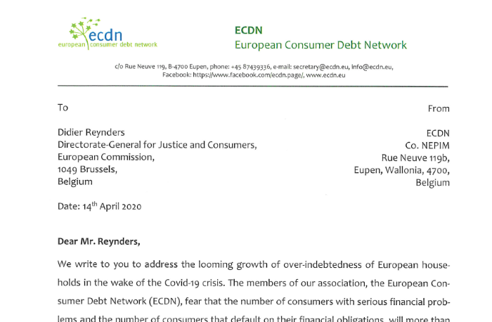 Letter to Commissioner Reynders